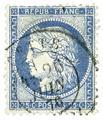n° 50/60A obl. - Type Cérès dentelé (IIIe République)