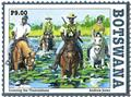 n° 1193/1196 - Timbre BOTSWANA Poste