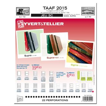 TAAF SC : 2015 (Jeu avec pochettes)