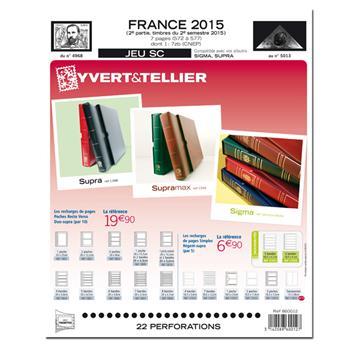 FRANCE SC : 2015 - 2EME SEMESTRE (Jeu avec pochettes)