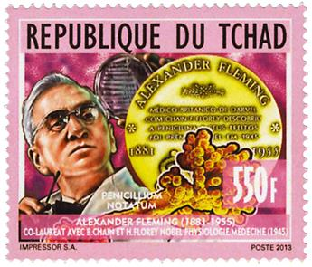 n° 1705 - Timbre TCHAD Poste
