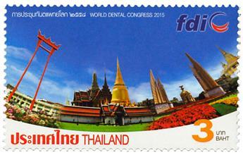 n° 3274 - Timbre THAILANDE Poste