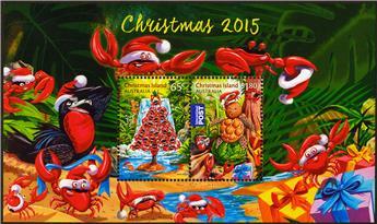 n° 49 - Timbre CHRISTMAS (ILE) Blocs et feuillets