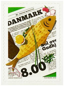 n° 1823 - Timbre DANEMARK Poste