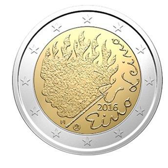 2 EUROS COMMEMORATIFS 2016 : FINLANDE (Eino Leino)
