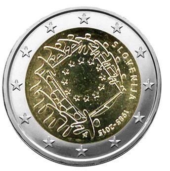 2 EURO COMMEMORATIVE 2015 : SLOVENIE (30E ANNIVERSAIRE DU DRAPEAU EUROPEEN)