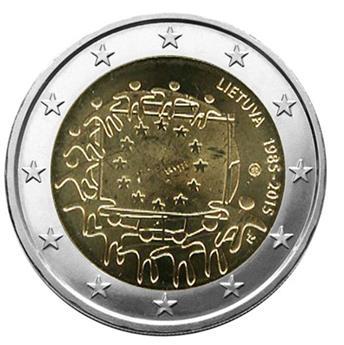 2 EURO COMMEMORATIVE 2015 : LITUANIE (30E ANNIVERSAIRE DU DRAPEAU EUROPEEN)