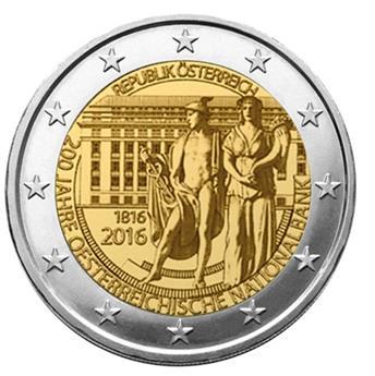 2 EUROS COMMEMORATIFS 2016 : AUTRICHE (Banque National Autrichienne)