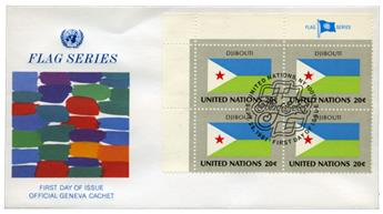 ONU New York: drapeaux 1981