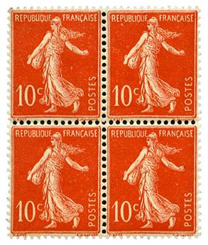 n°135b** (2ex*) - Timbre France  Poste