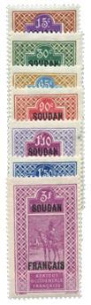n°53/59* - Timbre Soudan Poste