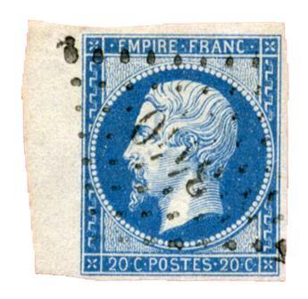 n°14B obl. TB - Timbre France Poste