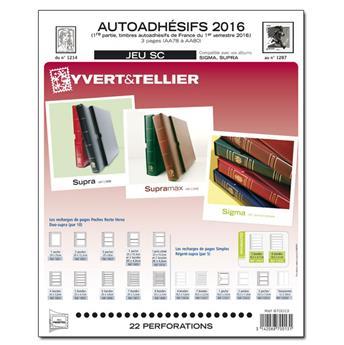 FRANCE AUTOADHESIFS SC : 2016 - 1ER SEMESTRE (Jeu avec pochettes)