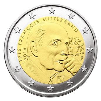 2 EUROS COMMEMORATIFS 2016 : FRANCE (Mitterrand)
