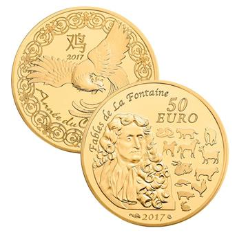 50 EUROS OR - ANNEE DU COQ 2017