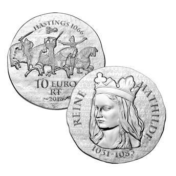 10 EUROS ARGENT - FRANCE - REINE MATHILDE