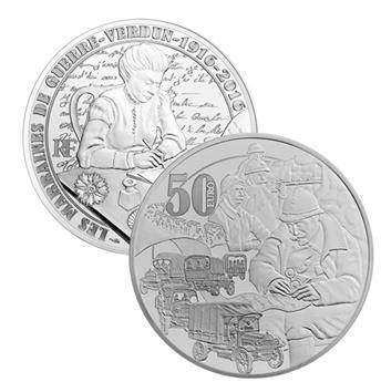 50 EUROS ARGENT - FRANCE - GRANDE GUERRE 14-18 - 2016