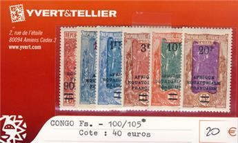 CONGO. - n° 100/105*