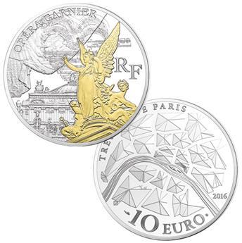 10 EUROS - ARGENT - FRANCE - OPERA GARNIER BE 2016