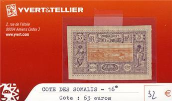 COTE DES SOMALIS - n° 16*