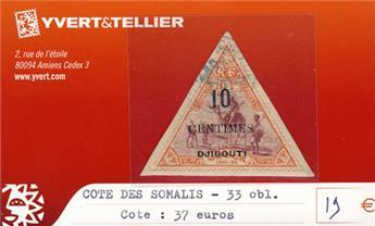 COTE DES SOMALIS - n° 33* Obl.