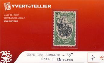 COTE DES SOMALIS - n° 65*