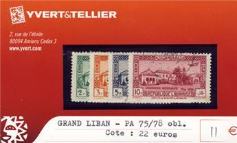 GRAND LIBAN - PA n° 75/78 Obl.