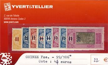 GUINEE - n° 99/106*
