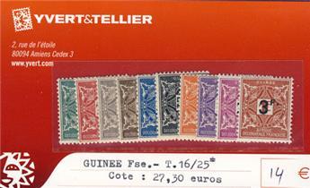 GUINEE - Taxe n° 16/25*