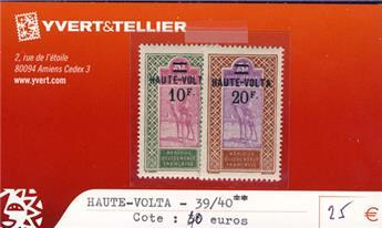 HAUTE-VOLTA - n° 39/40**