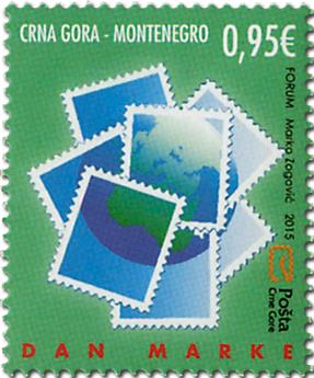 n° 378 - Timbre MONTENEGRO Poste