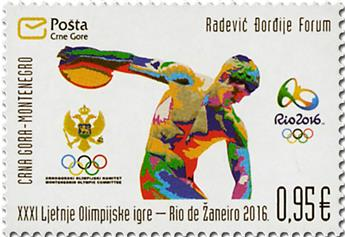 n° 390 - Timbre MONTENEGRO Poste