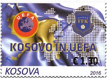n° 215 - Timbre KOSOVO Poste