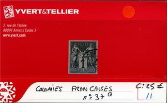 COLONIES FRANCAISES - n° 37 Obl.