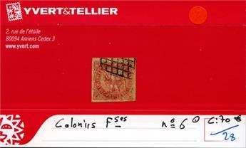 COLONIES FRANCAISES - n° 6 Obl.