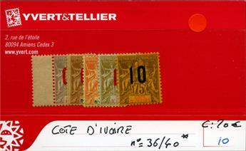 COTE D´IVOIRE - n° 36/40*