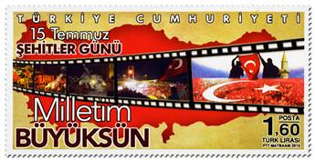 n° 3810 - Timbre TURQUIE Poste