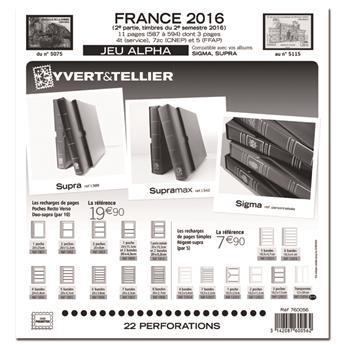 FRANCE ALPHA : 2016 - 2E SEMESTRE (jeux sans pochettes)