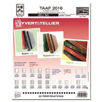 TAAF SC : 2016 (Jeu avec pochettes)