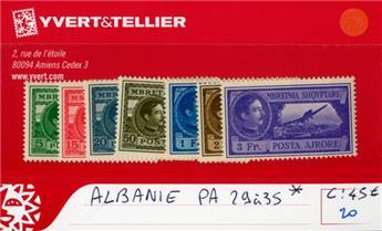 ALBANIE - PA n° 29/35 *