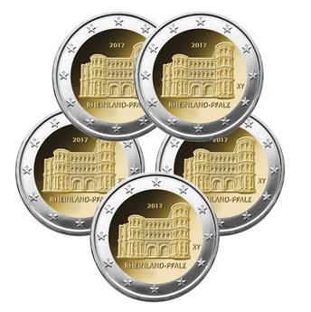 2 EUROS COMMEMORATIFS 2017 : ALLEMAGNE (5 pièces)