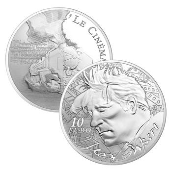 10 EUROS ARGENT - FRANCE - JEAN GABIN