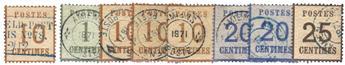 France : Alsace Lorraine Guerre de 1870 Occupation d´Amiens, 8 timbres B/TB