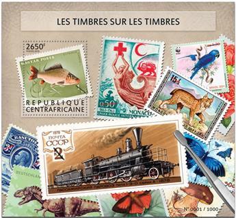 n° 850 - Timbre CENTRAFRICAINE Blocs et feuillets