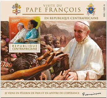 n° 920 - Timbre CENTRAFRICAINE Blocs et feuillets