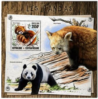 n° 1046  : Timbre CENTRAFRICAINE Blocs et feuillets