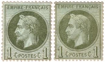 n°25, 25a* - Timbre France Poste