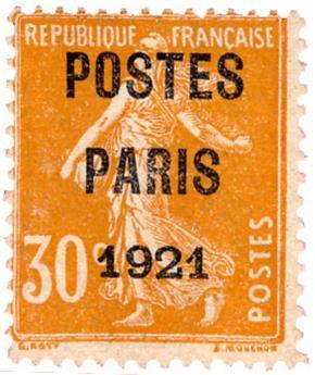 n°29(*) TB - Timbre France Préoblitérés