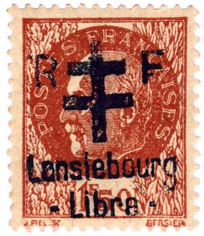 n°6** (MAYER) - Timbre France Libération (Lanslebourg)