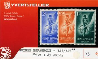 GUINEE ESPAGNOLE - n°325/327**